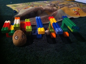 The WallNut is not made of Duplos.