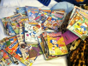 Scattering comics willy-nilly on your unmade bed shows the utmost respect for them.